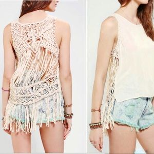 {Urban Outfitters} Macrame Festival Tank